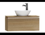 55661 - System Fit Washbasin Unit 80 cm