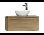 55663 - System Fit Washbasin Unit 80 cm