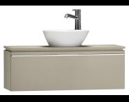 55672 - System Fit Washbasin Unit 100 cm