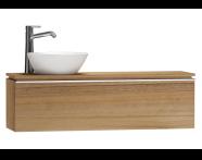 55693 - System Fit Washbasin Unit 120 cm (Left)