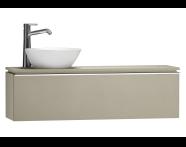 55694 - System Fit Washbasin Unit 120 cm (Left)