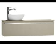 55696 - System Fit Washbasin Unit 120 cm (Left)