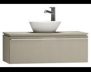 55728 - System Fit Washbasin Unit 100 cm