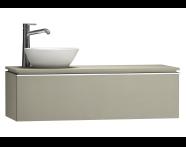 55750 - System Fit Washbasin Unit 120 cm (Left)