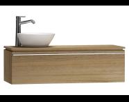 55751 - System Fit Washbasin Unit 120 cm (Left)