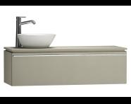 55752 - System Fit Washbasin Unit 120 cm (Left)