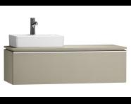 55814 - System Fit Washbasin Unit 120 cm (Left)
