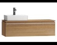 55815 - System Fit Washbasin Unit 120 cm (Left)