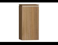 55889 - System Fit Medium Unit Waved Natural Wood Left 40 cm