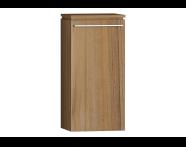 55891 - System Fit Medium Unit Waved Natural Wood Left 40 cm