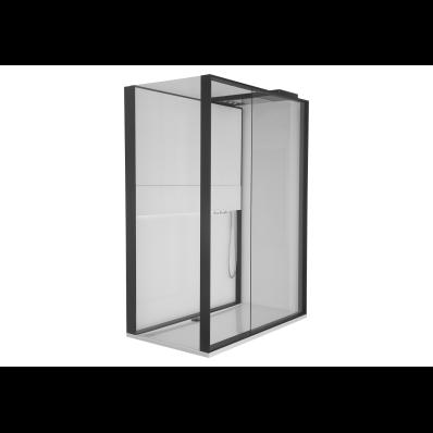 Notte Compact Shower Unit 160x90 cm Left, with Door, Music System, Matte Grey