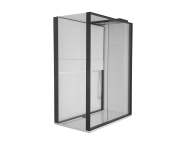 55940104000 - Notte Compact Shower Unit 160x90 cm Left, with Door, Matte Black