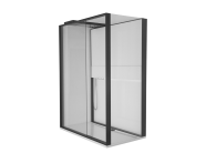 55945005000 - Notte Compact Shower Unit 160x90 cm Right, with Door, Music System, Matte Black