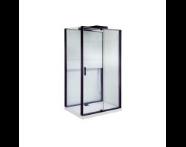 55950105000 - Notte Compact Shower Unit 120x90 cm Left, with Door, Matte Grey