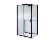 55955104000 - Notte Compact Shower Unit 120x90 cm Right, with Door, Matte Black
