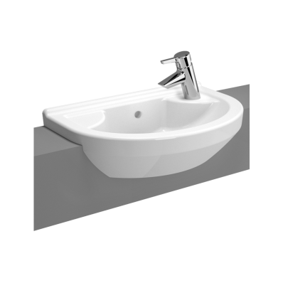 S50 Compact Round Compact Semi-Recessed Basin, 55 cm