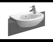 5597B003-0029 - S50 Compact Round Semi-Recessed Basin, 55 cm