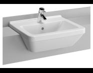 5598B095-0001 - S50 Semi-Recessed Basin, 55 cm
