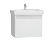 55993 - Step Washbasin Unit, 65 cm, White High Gloss