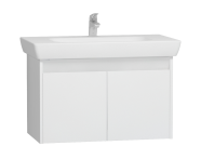 55995 - Step Washbasin Unit, 85 cm, White High Gloss