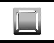 5606973 - SC100 010 Square Elegant Matte Chrome, Side