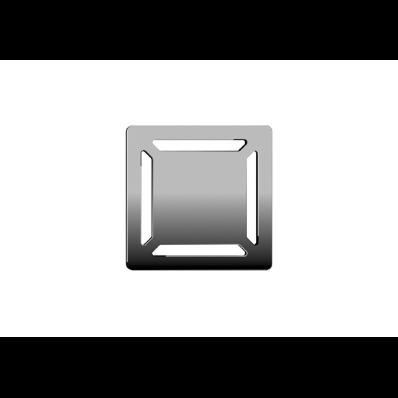 SC100 010 Square with Insulation Elegant Matte Chrome, Vertical
