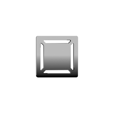 SC100 010 Square with Insulation Elegant Chrome High Gloss, Vertical