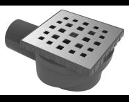 5608279 - SC100 015 Square Elegant Matte Chrome,Vertical