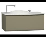 56097 - Istanbul Washbasin Unit 100 cm, Olive Green