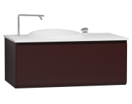 56105 - Istanbul Washbasin Unit 100 cm, Burgundy