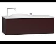 56106 - Istanbul Washbasin Unit 120 cm, Burgundy