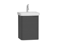 56110 - Nest Single Door Washbasin Unit 45 cm, Anthracite, Left
