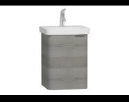 56112 - Nest Single Doorı Washbasin Unit 45 cm, Grey Natural Oak Sol