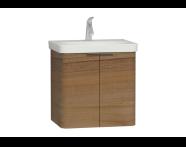 56117 - Nest 2 Doors Washbasin Unit 60 cm, Waved Natural Wood