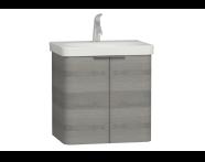 56118 - Nest 2 Doors Washbasin Unit 60 cm, Grey Natural Oak