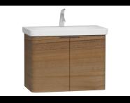 56120 - Nest 2 Doors Washbasin Unit 80 cm, Waved Natural Wood
