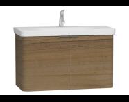 56123 - Nest 2 Doors Washbasin Unit 100 cm, Waved Natural Wood