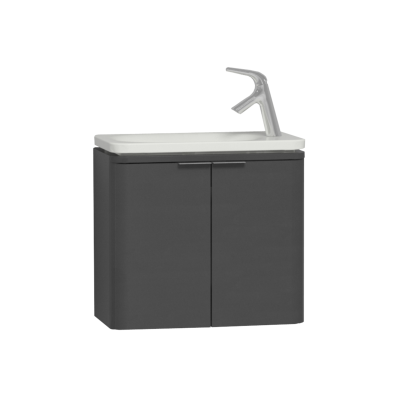 Nest Trendy Narrow Washbasin Unit 60 cm, Anthracite High Gloss