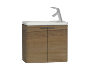 56126 - Nest Trendy Narrow Washbasin Unit 60 cm, Waved Natural Wood