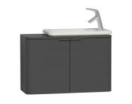 56128 - Nest Trendy Narrow Washbasin Unit 80 cm, Anthracite High Gloss