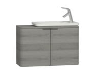 56130 - Nest Trendy Narrow Washbasin Unit 80 cm, Grey Natural Oak