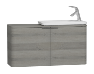56133 - Nest Trendy Narrow Washbasin Unit 100 cm, Grey Natural Oak