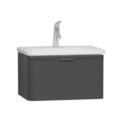 Nest Trendy 1 Drawer Washbasin Unit 60 cm Anthracite High Gloss