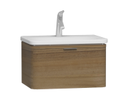 56135 - Nest Trendy 1 Drawer Washbasin Unit 60 cm Waved Natural Wood