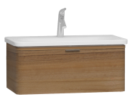 56138 - Nest Trendy 1 Drawer Washbasin Unit 80 cm, Waved Natural Wood