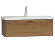 56141 - Nest Trendy 1 Drawer Washbasin Unit 100 cm Waved Natural Wood