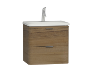 56144 - Nest Trendy 2 Drawer Washbasin Unit 60 cm Waved Natural Wood