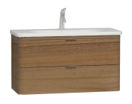 56150 - Nest Trendy 2 Drawer Washbasin Unit 100 cm, Waved Natural Wood