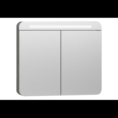 Nest Trendy Mirror Cabinet With Led Lighting 80 Cm Grey