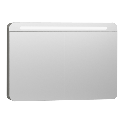 Nest Trendy Mirror Cabinet With Led Lighting 100 Cm Grey